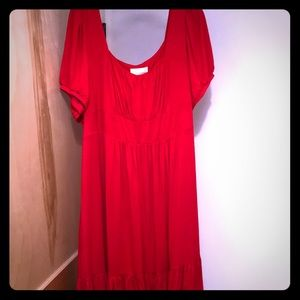 NWT Anthropologie A+ red jersey short sleeve dress